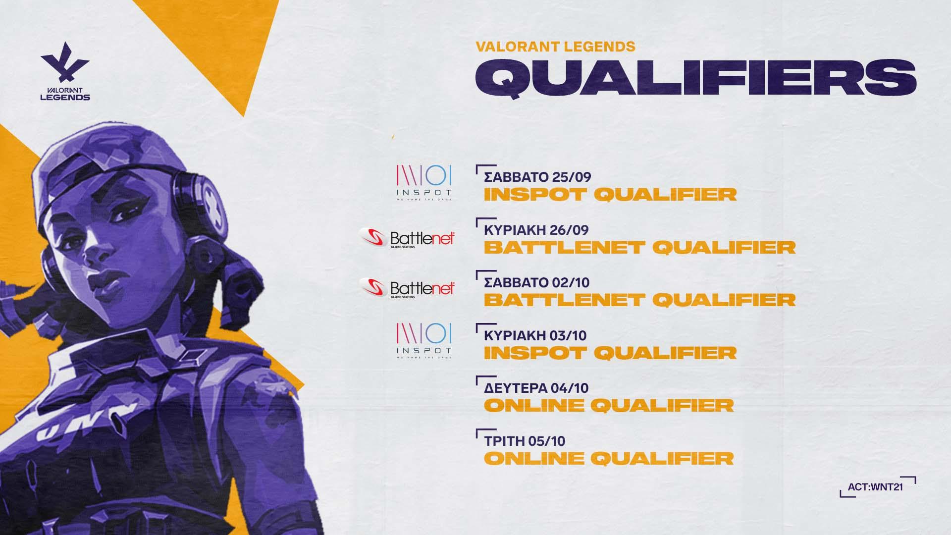 VALORANT LEGENDS: Open Qualifiers